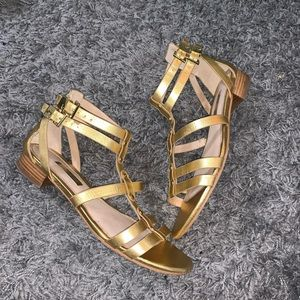 Louise Et Cie gold gladiator sandals